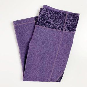 Athleta Splits Revelation Capri Legging Purple M